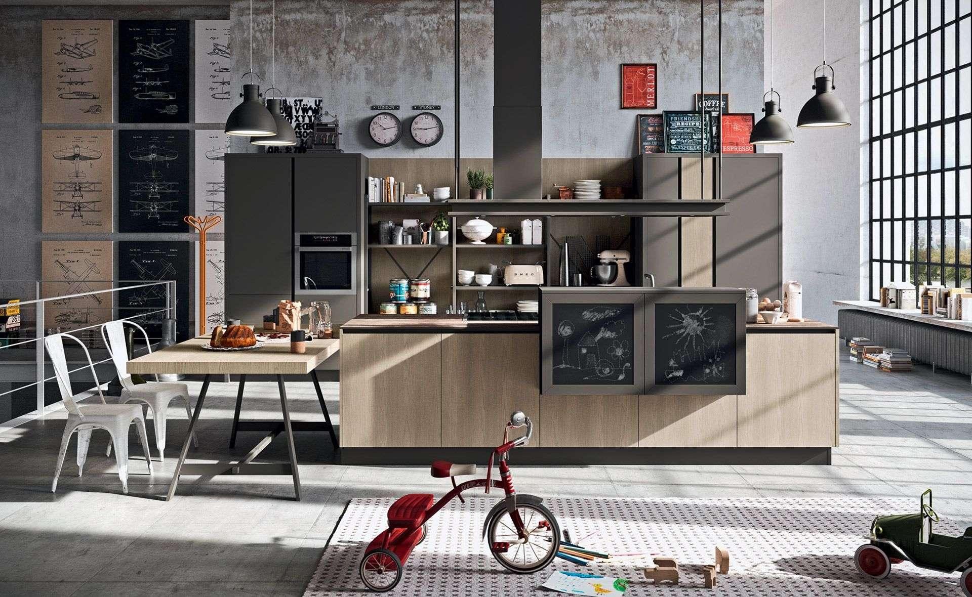 L 39 industrial chic astra cucine arredamenti ascani - Cucine industrial chic ...